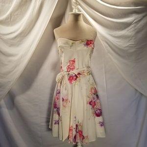 "Silk ""Vintage Bouquet"" Betsy Johnson Dress"